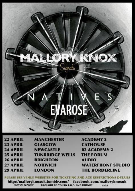 Mallory Knox Tour Dates